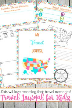 Your kiddos will love recording their thoughts and memories in this fun travel journal! It'll make a great keepsake for years to come. | embarkonthejourney.com