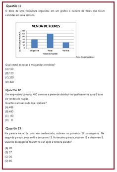 Avaliação de Matemática 4º ano | Rérida Maria Fundamental 1, Essencial, Interactive Activities, Math Activities, Math Assessment, Math Lessons, Adhd, Texts