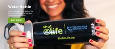 United Nations Foundation - shot@life Camel water bottle. Just $20 can provide life-saving vaccines to a child!