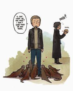 John Watson: Otter Whisperer - can we just talk about how Sherlock even got a porcupine when theres a bunch of otters? Sherlock Fandom, Sherlock John, Bbc Sherlock Holmes, Jim Moriarty, Sherlock Quotes, Watson Sherlock, Sherlock Otter, John Watson, Johnlock