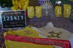 Bachelorette party favors customized wine glasses gems michael s