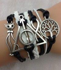 Bracelet - antique silver palm civet bracelet, infinite play bracelet, the tree of life bracelet, harry potter - Hipster Jewelry, Tree Of Life Bracelet, Wicca, Antique Silver, Jewelry Collection, Harry Potter, Chain, Antiques, Infinite
