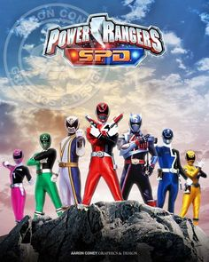 8 x 10 glossy print of the legendary Power Rangers S.P.D., in honor of the 20th anniversary Power Rangers Super Megaforce, and the legendary war.