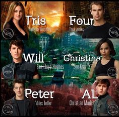 And to think only three of them are alive at the end of allegiant SORRY SPOILER