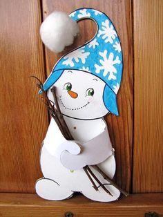 Hamarosan itt a tél! – készítsünk hóembert - New Ideas Christmas Cards Drawing, Christmas Paper, Christmas Crafts For Kids, Christmas Deco, Xmas Crafts, Winter Christmas, Winter Kids, Winter Art, Winter Theme