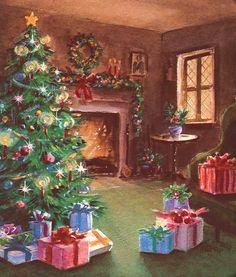 Lovely Christmas fireside.