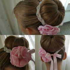 Cute Bun Hairstyles, Ballet Hairstyles, Hair Ribbons, Diy Hair Bows, Bun Wrap, Barrettes, Hair Decorations, Diy Hair Accessories, Boutique Bows