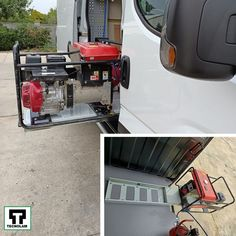 Folosirea generatorului îți dă 🤯bătăi de cap datorită greutăți? Alege 👉suportul culisant pentru generator! Gym Equipment, Van, Workout Equipment