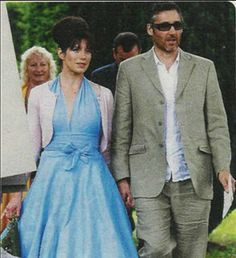 Caroline Catz with her husband Michael.  They have two children, Sonny and Honour.