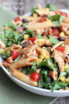 BBQ Chicken Pasta Salad on MyRecipeMagic.com