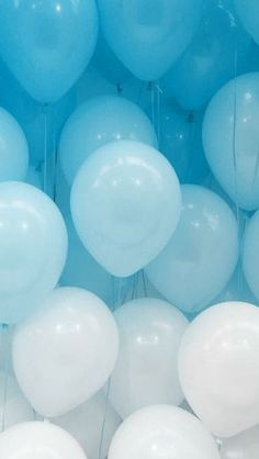 light blue photowall