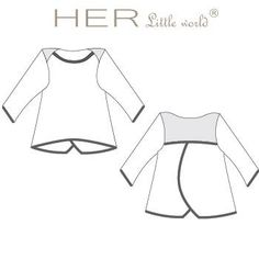 HER Little world, Patron de couture pour vêtement enfant, sweat Cosy