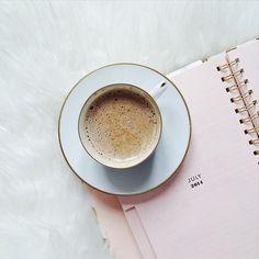 Pale pink coffee