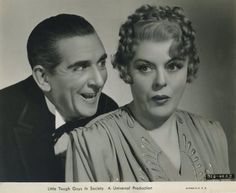 Mary Boland at the right with another popular character actor, Edward  Everett Horton...