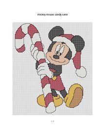 free cross stitch patterns and links: new Christmas patterns Disney Crochet Mittens Free Pattern, Crochet Mandala Pattern, Crochet Chart, Xmas Cross Stitch, Cross Stitch Charts, Cross Stitching, Christmas Cross, Crochet Christmas, Disney Christmas