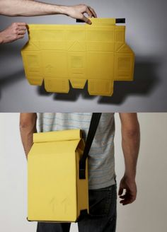 Flat-pack bag by Gregor Timlin