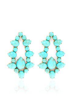 Love turquoise earrings