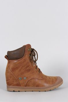 d1e05d9e790 Wedged Hiking Ankle Boots. Wonderful Wellies
