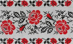 Beading _ Pattern - Motif / Earrings / Band ___ Square Sttich or Bead Loomwork ___ Gallery. Cross Stitch Love, Cross Stitch Borders, Cross Stitching, Cross Stitch Embroidery, Beading Patterns, Embroidery Patterns, Cross Stitch Patterns, Tapestry Crochet, Loom Beading