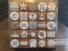 Stempelschön: Stampin Up! Christmas Box Frames, Christmas Mood, Christmas Themes, Chrismas Cards, Stampin Up Christmas, Christmas Paper, Advent Calenders, Diy Advent Calendar, Birthday Countdown