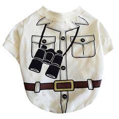 Camiseta para Cachorro Safari Bege Dear Dog - MeuAmigoPet.com.br #petshop #cachorro #cão #meuamigopet