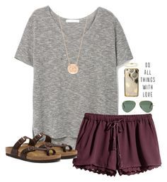 """""""Thinking about doing a contest!"""" by sassysouthernprep99 ❤ liked on Polyvore featuring MANGO, H&M, Madewell, BaubleBar, Birkenstock, Southern Tide and Belpearl"""