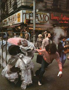 NYC. 1970s taste. The garment district. // Anthony Burgess in New York | Ozzie Freidman