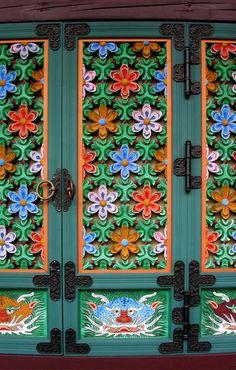Tongdosa temple doors, Yangsan City, South Korea