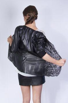 54eb7ff28aa6 Elvira  t Hart - drawn jacket. Nataša Požar Barut · My style · Rick Owens