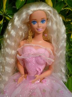 1993 Locket Surprise Barbie, via Flickr.