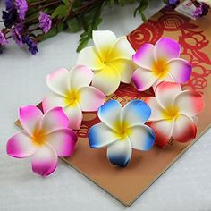 Calcifer® 30pcs 1.97''Hawaii Hawaiian Plumeria Flower Clips Bridal Wedding Party Beach Hair Clips ** You can find more details by visiting the image link.