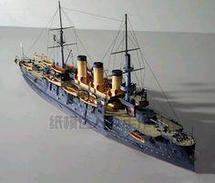 1:250 modelo de navio militar Czar rússia marinha navio de guerra Oslabya 3D Art modelo artesanal de papel brinquedo(China (Mainland))
