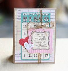 Good Friends Card by Cindy Lee via Jillibean Soup Blog