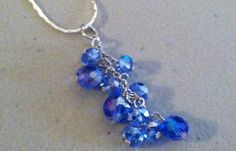 Beautiful  Blue  Drop Necklace by PersnicketyPatty on Etsy, $16.99