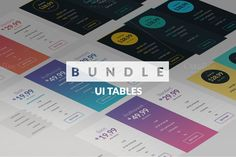 Pricing tables pack by JustShop on Creative Market