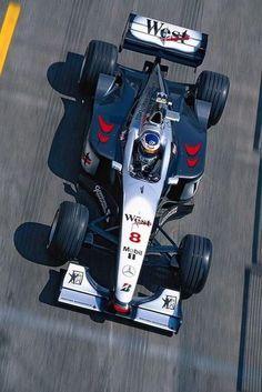 Mika Häkkinen, #McLaren - #Mercedes - 1998 Mclaren Mercedes, Mclaren Mp4, Nascar, Stock Car, Formula 1 Car, F1 Racing, Indy Cars, Vintage Racing, Motor Car