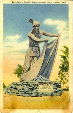 'The Smoke Signal' Statue, Pioneer Park, Lincoln, Ne
