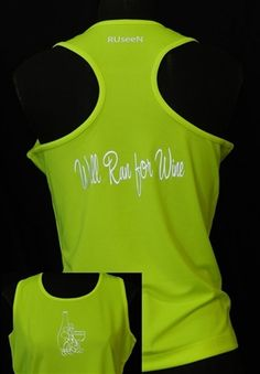 Women's Lime Yellow Tank Top- Wine Reflective Safety Vests Clothing Apparel Shirts Jackets Hats Sash Belts