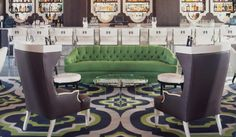 Viceroy Santa Monica.  Black and green with marble.  Love the flooring.