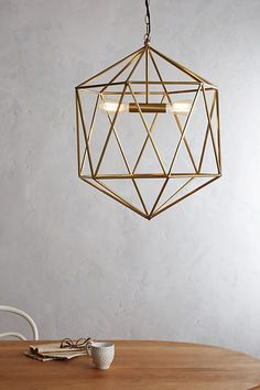 Breakfast - Euclidean Pendant, Faceted Orb - Anthropologie - Medium - $398