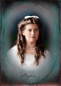 Maria Nikolaevna Grand Duchess of Russia (June 26 (27th after 1900) [O.S. June 14] 1899 – July 17, 1918)