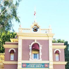Disneyland Firehouse | Photography by Amy Watkins Park Around, Disney Aesthetic, Disneyland Resort, Vintage Disney, Disney Parks, Amy, House Styles, World, Photography