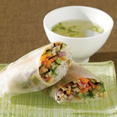Un-turkey Spring Rolls with Fresh Veggies and Rice Noodles