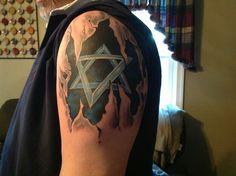 Jewish Skin Rip Tattoo