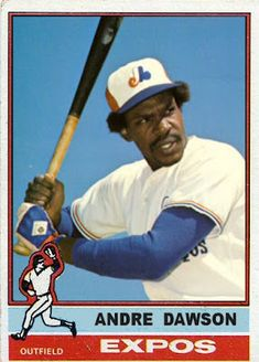 1976 Topps Andre Dawson, Montreal Expos, Baseball Cards That Never Were.