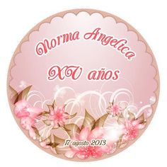 Sticker XV años para bolsa de dulces