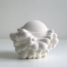 white art sculpture ceramic Kristine Tillge Lund #clay