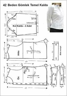 men's shirt pattern with sleeve variations free pattern diagramRead more about mens shirts♥ Deniz ♥Tap the link to check out great cat products we have for your little feline friPattern Making Fundamentals: Dart manipulation and pivot points (VIDEO)Ch Dress Sewing Patterns, Blouse Patterns, Sewing Patterns Free, Clothing Patterns, Make Your Own Clothes, Diy Clothes, Costura Fashion, Sewing Blouses, Jacket Pattern