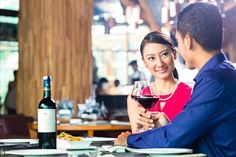 Asian couple fine dining in restaurant. Asian couple having dinner and drinking , Certificate Of Deposit, Romantic Camping, Kitchen Background, Win Win Situation, Marketing Tactics, Divorce Humor, Meet Local Singles, Couples Images, Single Dating