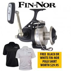 Fin-Nor Offshore Fishing #Reels With Free Fin-Nor Polo #Shirt for the lowest price in Australia provided by Dinga Fishing Tackle Store!